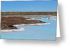Iceland Blue Lagoon Lava Field Greeting Card