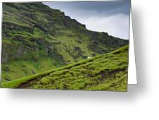 Iceland Hill Greeting Card