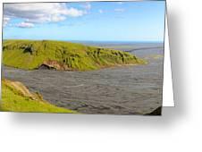 Iceland Landscape Near Vik Greeting Card