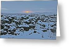 Iceland Lava Field Sunrise Mountains Clouds Iceland 2 2112018 1024jpg Greeting Card