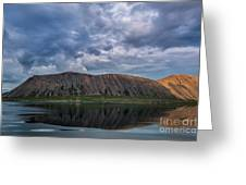 Iceland Mountain Reflections  Greeting Card