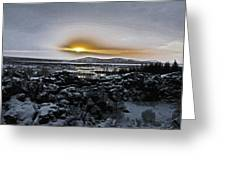Iceland Sunrise Iceland Lava Field Streams Sunrise Mountains Clouds Iceland 2 2112018 1095.jpg Greeting Card
