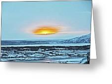 Iceland Sunrise Iceland Lava Field Sunrise Mountains Clouds Iceland 2 2112018 1013.jpg Greeting Card