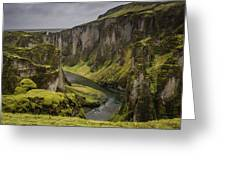 Iceland Valley Greeting Card