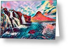 Iceland Waterfalls Greeting Card