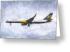 Icelandair Boeing 757 Art Greeting Card