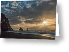 Icelandic Seascape Greeting Card