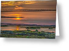 Icelandic Sunset Greeting Card
