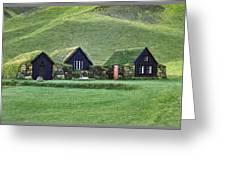 Icelandic Turf Homes Greeting Card