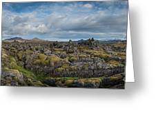 Icelands Mossy Volcanic Rock Greeting Card