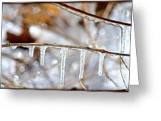 Icicles And Bokeh Greeting Card