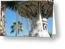 Icicles In A Palm Filled Sky Number 1 Greeting Card