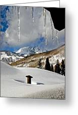 Icicles In East Vail Greeting Card