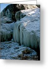 Icicles On The Rocks Greeting Card