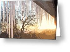 Icicles One Greeting Card