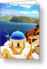 Iconic Anastaseos Oia Santorini Greece Greeting Card