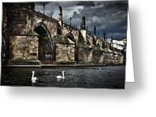 Iconic Bridge In Prague Greeting Card