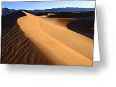 Iconic Dunes At Death Valley Greeting Card