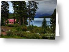 Iconic Maligne Lake And Boat House II Greeting Card