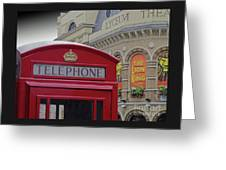 Iconic Postbox And Lyceum Theatre Greeting Card