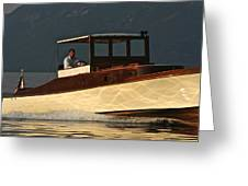 Iconic Wooden Runabout Greeting Card