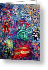 Icons Of Freedom Greeting Card