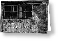 I.c.r.r. Steam Engine Cab Greeting Card