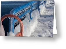 Icy Aftermath Greeting Card