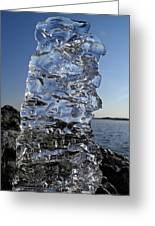 Icy Beach View 3 Greeting Card