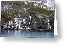 Icy Cliff In Winter Greeting Card