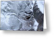 Icy Creek Forms In Pocono Mountains Greeting Card