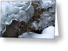 Icy Creek In Pocono Mountains Greeting Card