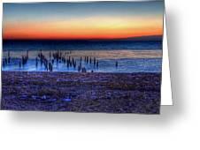 Icy Dawn Greeting Card