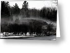 Icy Fog Greeting Card
