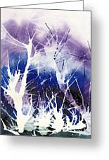 Icy Forest Greeting Card