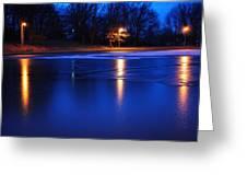 Icy Glow Greeting Card