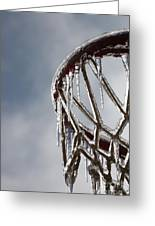 Icy Hoops Greeting Card