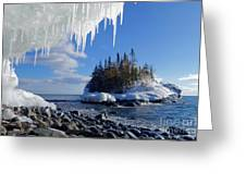 Icy Island View Greeting Card