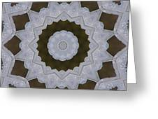 Icy Lace Kaleidoscope Greeting Card
