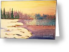 Icy Lake Greeting Card