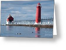 Icy Lighthouse Greeting Card