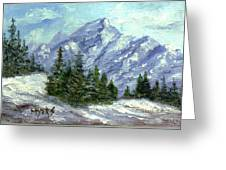 Icy Mountain Greeting Card