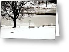 Icy Pond Greeting Card