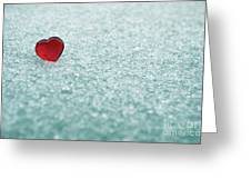 Icy Red Heart Greeting Card