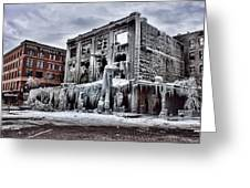 Icy Remains - After The Fire Greeting Card by Jeff Swanson