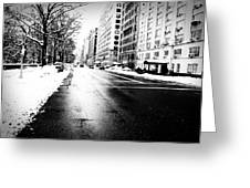 Icy Snow Greeting Card