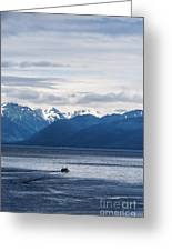 Icy Strait Fishing Greeting Card