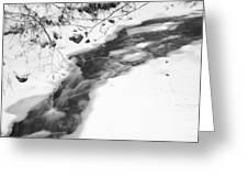 Icy Swath Greeting Card