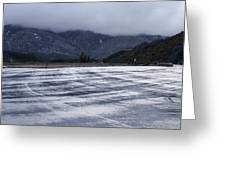 Icy Viewpoint On Silverwood Lake Greeting Card