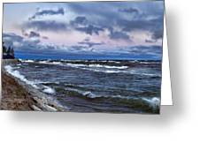 Icy Waters Of Superior Greeting Card